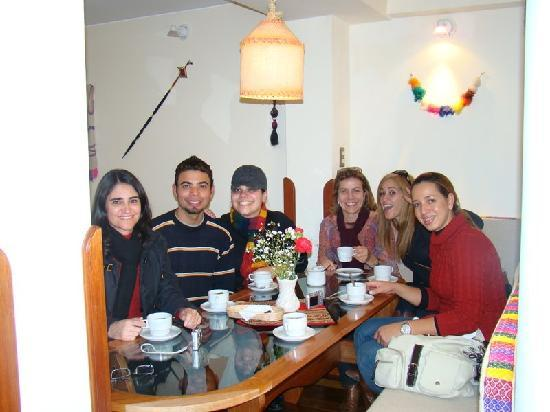 Our group in Laramani Hostal