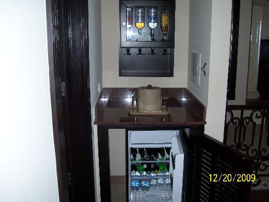 Mini Bar From Suite 2109 They Refill Them Every 2 Days Picture Of Hotel Riu Emerald Bay