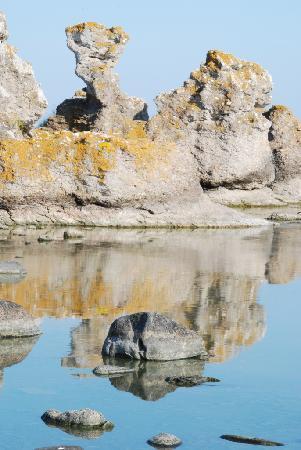 Pensionat Holmhallar : Vacker rauk vid havet 300 m bort