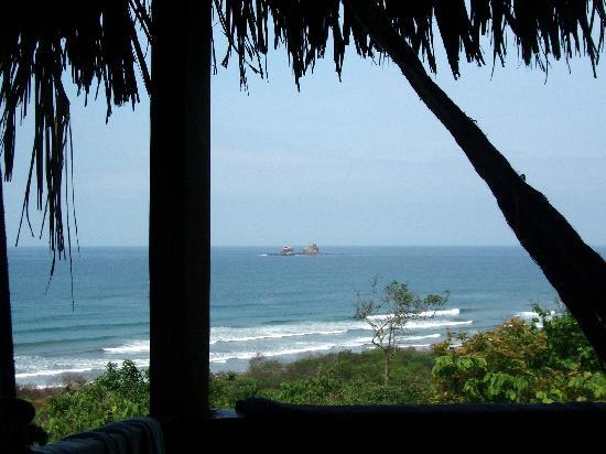 Ayampe, Ekuador: view from cabin balcony