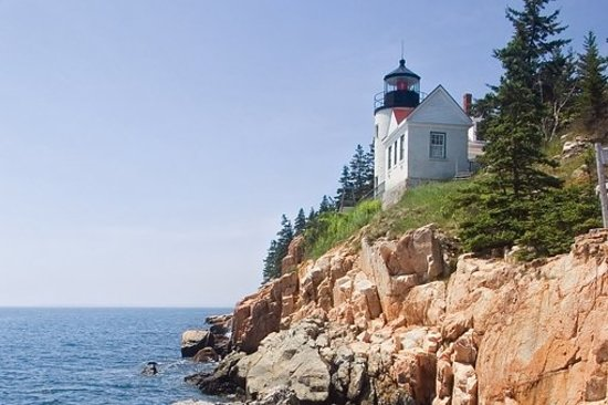 Bass harbor Head Light on Mt. Desert Island, Maine.