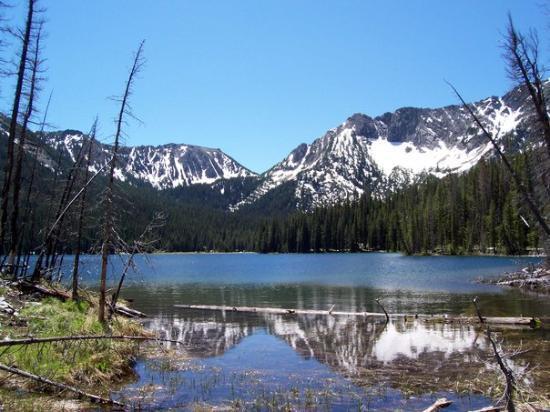 Philipsburg, Montana: .....was this.  initial view of johnson lake.