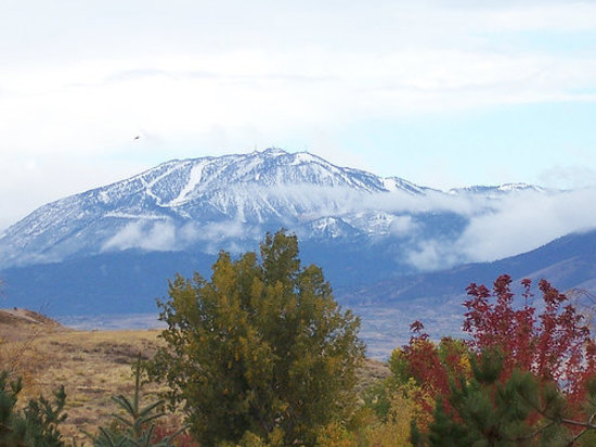 Reno, NV: Mt. Rose with first snow.