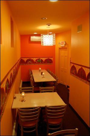 Taste of India: Rear Seating Area