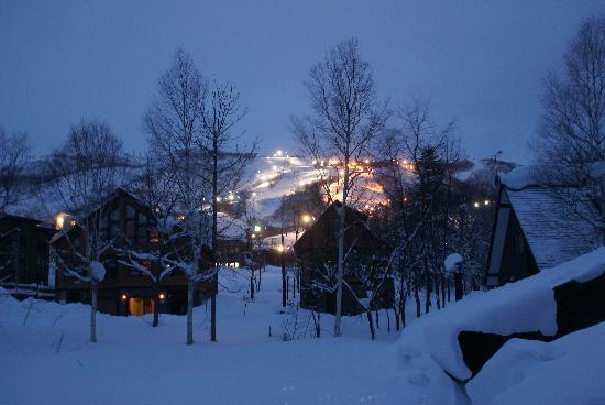 Kutchan-cho, Japan: night time view up the mountain