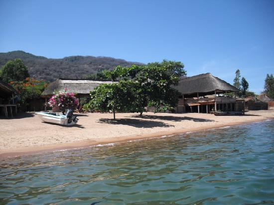 Cape Maclear, Malawi: Gecko deck area from the water, December 2009