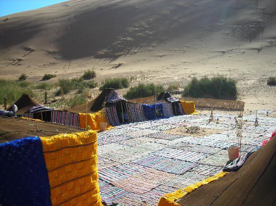 Ksar Bicha: Bivouac privé isolé au pied d'une des grandes dunes