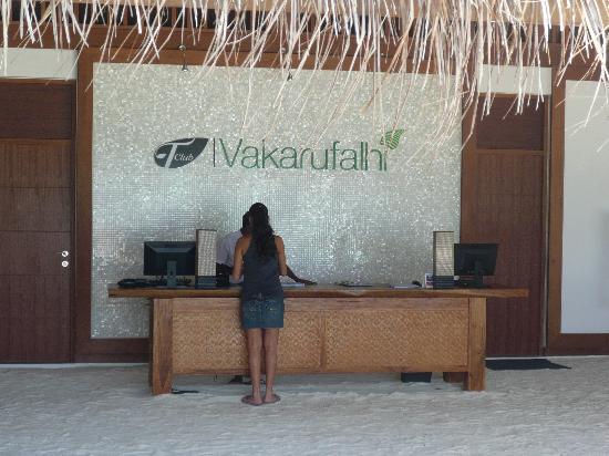 Vakarufalhi Island Resort: reception
