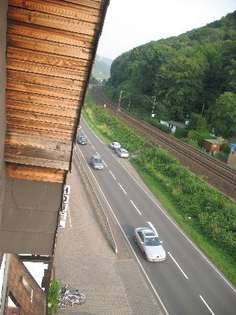 Hotel L'Europe: out the window- how close the trains are