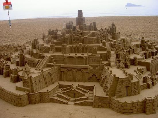 Benidorm, Spain: fabulous sand sculpture