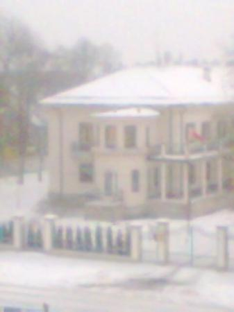 Hanza Hotel: Russian Embassy directly across from my hotel room window. I reckon they were watching me...