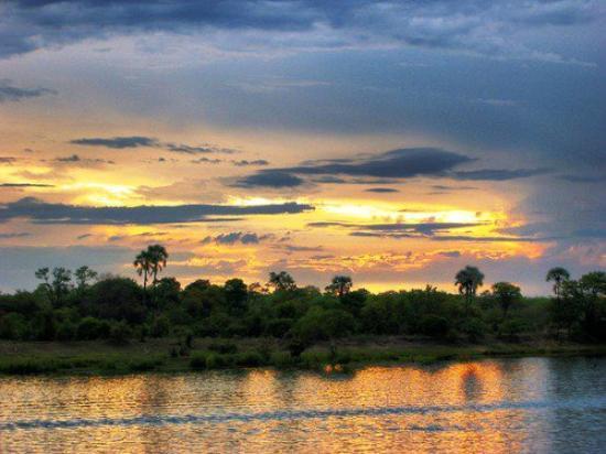 Victoria Falls, Zimbabwe: Sun set