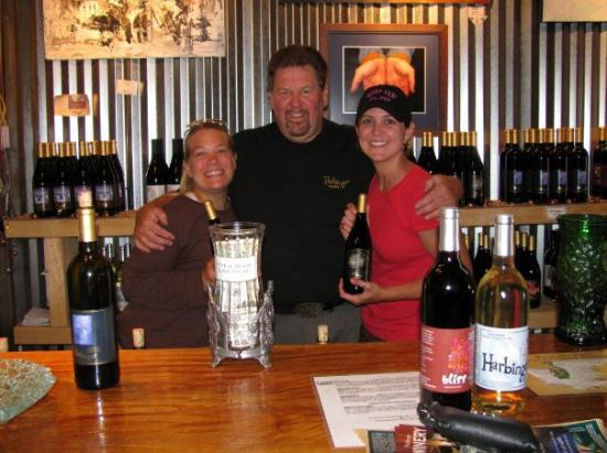 Harbinger Winery: Getting in good with the owner.