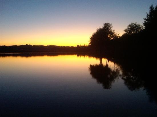 Silverlake, WA: Sunset