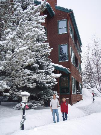 Kutuk Condominiums at Steamboat Springs : The boys in front of Kutuk 312