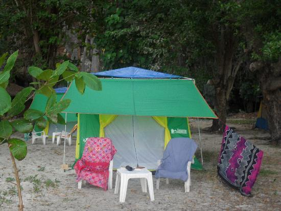 Trang Province, Thailand: The sea view tent