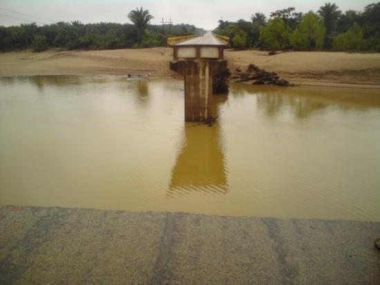 Trujillo, Honduras: A bridge near La Ceiba that had been washed out by the rains.