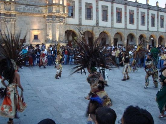 Indio´s dancing for the virgin of Zapopan