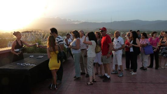 B&B Plaza Italia: Free roof-top jazz concert with champagne