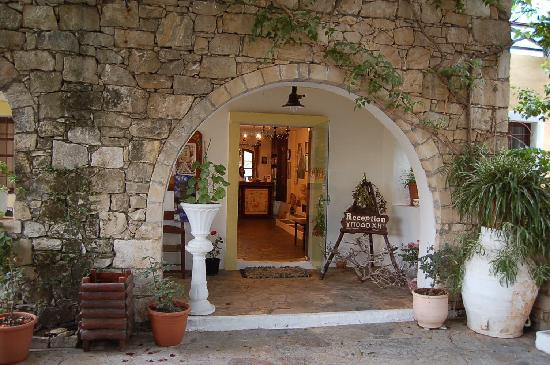 Arolithos Traditional Cretan Village: Hotel Reception