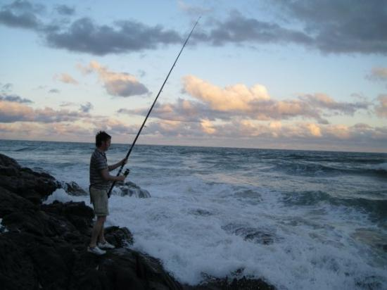 Margate, Sør-Afrika: Fishing for seaweed in South Africa, with great success!