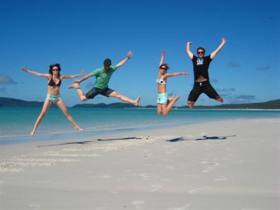 Whitsunday Islands, Australia: Hangtime am Whiteheaven Beach