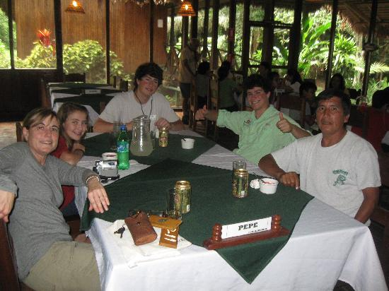 Sandoval Lake Lodge: our assigned table