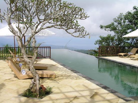 Munduk Moding Plantation: View over the infinity pool