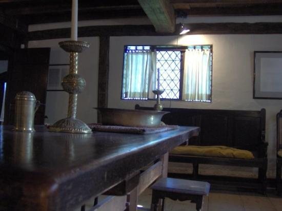A Room Inside The Witch House In Salem Massachusetts