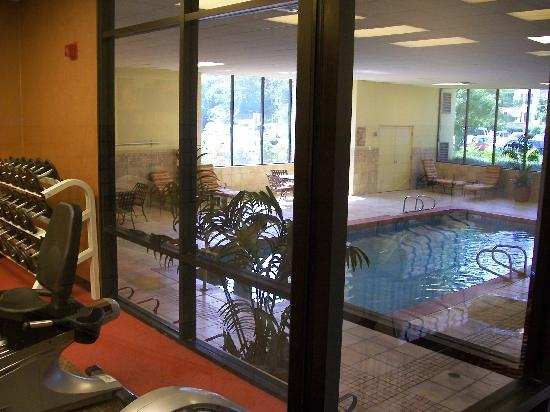 University Plaza Hotel and Convention Center: indoor pool with hot tub and fitness center