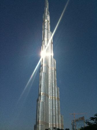 Burj dubai seen from the hotel