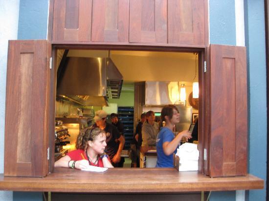 Fergburger: looking through one ordering window