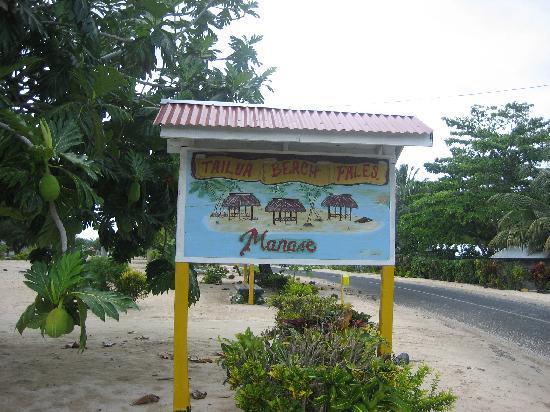 Tailua Beach Fales: Tailua Beach Fale Sign