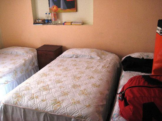 Hotel Andino: Room 3, has three single bed and is bright and clean.