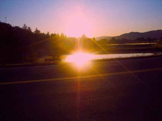 Eugene, OR: Two Suns in the sunrise?
