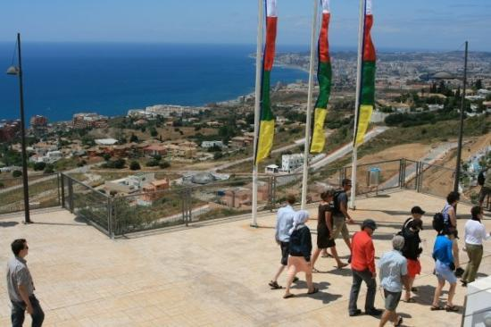 Buddist Temple: View from the stairs of Benalmadena Stupa