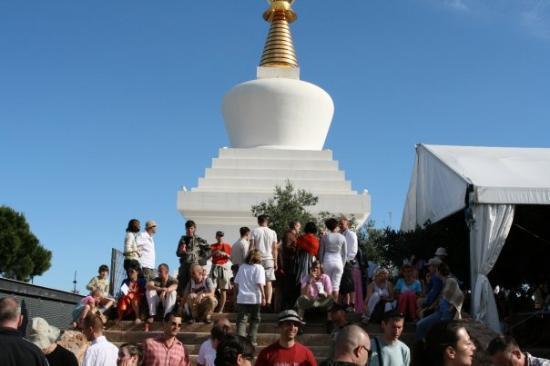 Buddist Temple: People @ Benalmadena Stupa