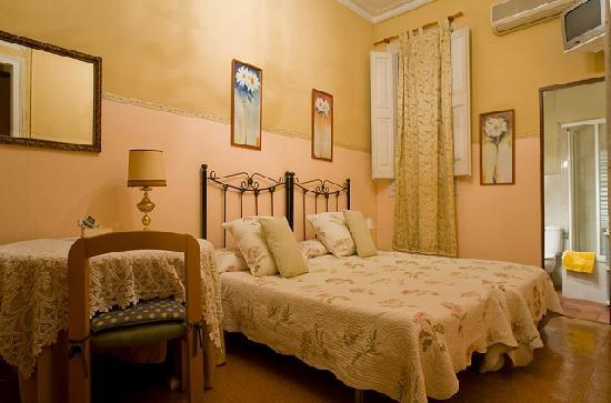 House Family Bed and Breakfast: Pink double bedroom in-suite