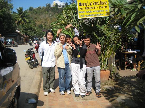 Muonglao Guesthouse: with KC & team @ Muong Lao, Luang Prabang