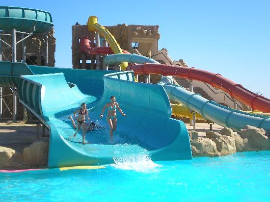 Kids having fun on the slides