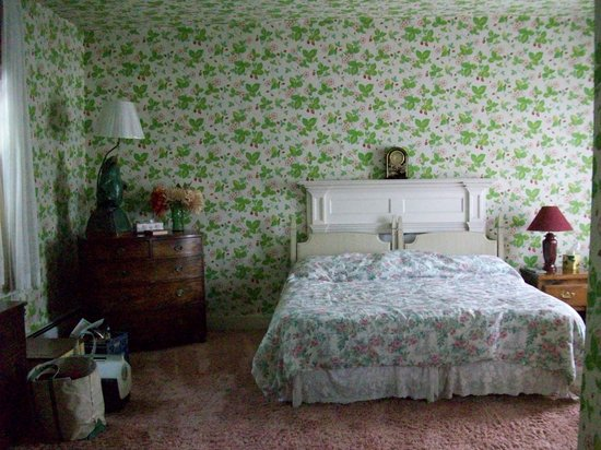 Lewisburg, Wirginia Zachodnia: Strawberry room - pink shag carpeting & wall paper everywhere!
