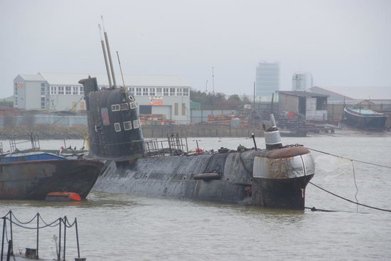 Strood, UK: Another view of the submarine