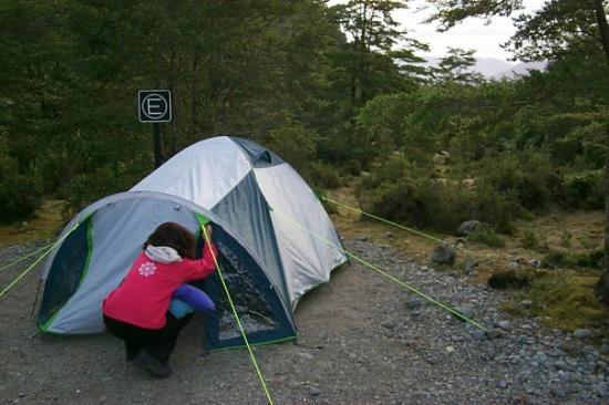 Futaleufu, Chile: Camping en el Parque Nacional Queulat.
