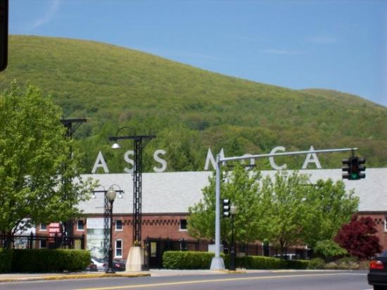 "North Adams, MA: Mass MoCA it's funny because you can't see them first ""M"""