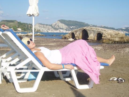 Argassi, กรีซ: wypoczynek...... w oddali Zante :-)