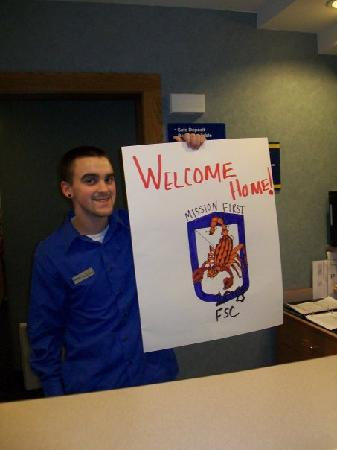 Microtel Inn & Suites by Wyndham Tomah : Matt with the finished poster!
