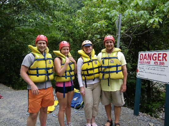 RnR White Water Rafting: Lots of safety gear