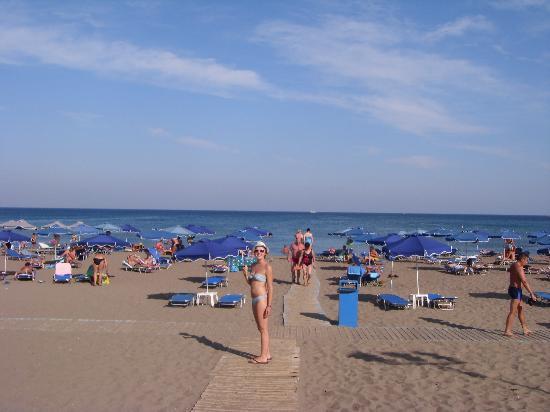 Mitsis Faliraki Beach Hotel Spa The Beach Directly Outside The Faliraki Beach