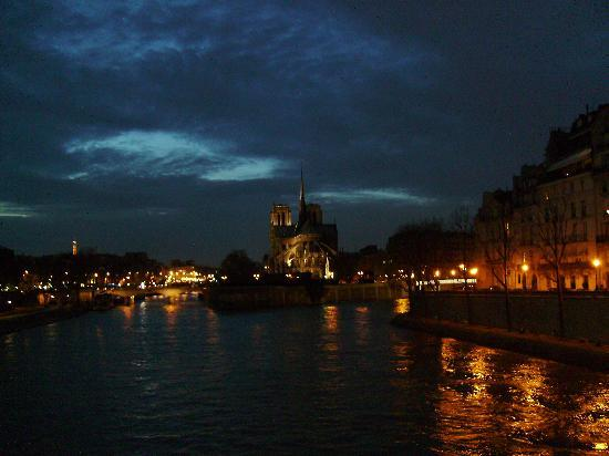 Paris, France: Notre-Dame at night