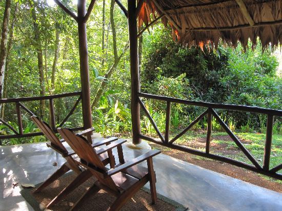 El Remanso Lodge: Patio at La Vanillia